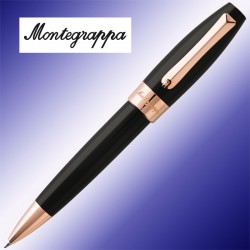 Długopis Montegrappa Fortuna Black & Rose Gold