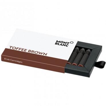Wkłady atramentowe Montblanc Toffee Brown - brązowe 8 szt.