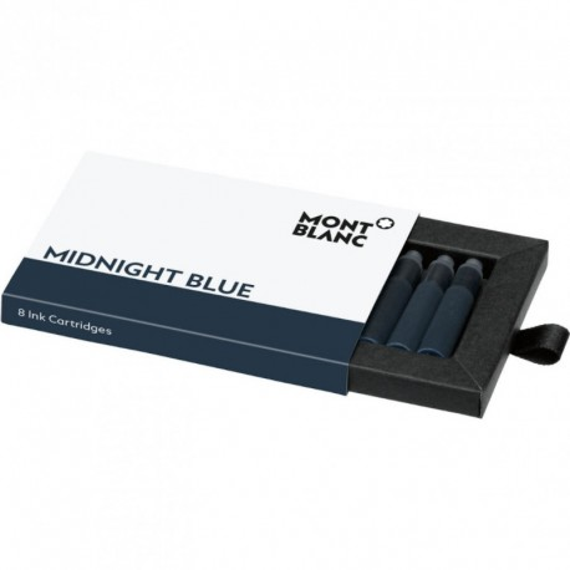 Wkłady atramentowe Montblanc Midnight Blue - ciemnoniebieskie 8 szt.