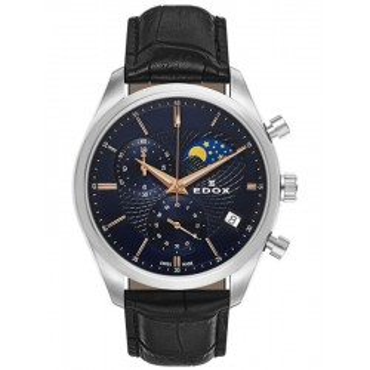 Edox Les Vauberts Chronograph Mondphase Datum 01655 3 BUIR