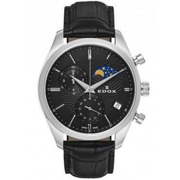 Edox Les Vauberts Chronograph Mondphase Datum 01655 3 NIN