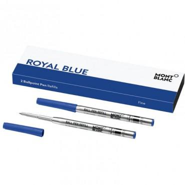 Wkłady do długopisu Montblanc - niebieskie 2szt. - F